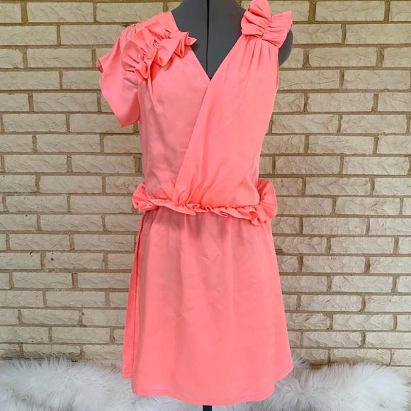 Bensoni Dresses & Skirts - Bensoni Runway Pink Ruffle Dress